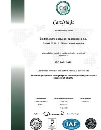 Sindler,dulni a stavebni spolecnost s.r.o. Brodska cert ISO 9001 CZ- issue 1_page-0001
