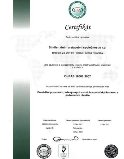 Sindler,dulni a stavebni spolecnost s.r.o. Brodska cert OHSAS 18001 CZ- issue 1_page-0001